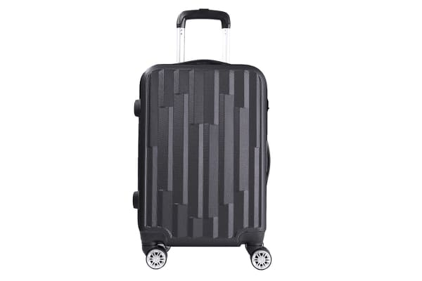 Lenoxx Hard Case Lightweight Luggage with USB Port For Charging - Black