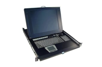 "Rextron IURA116-19 All-in-1 Integrated LCD KVM Drawer  1 console to 16 PS/2 or USB PCs 19"" TFT LCD"