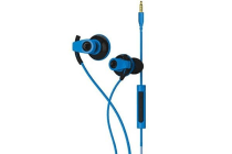 BlueAnt PUMP BOOST Blue - Wired Pump Your Bass Dual Driver Stereo Earbuds w/mic MEGA LOUD / MASSIVE