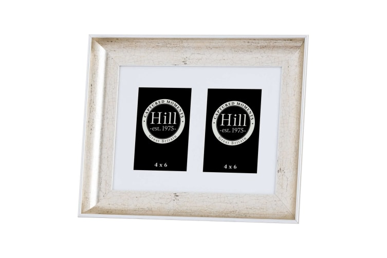Hill Interiors Antique Style Silver Crackled Effect Photo Frame (Silver) (Single 4x6)