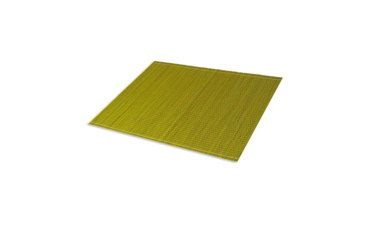 Emporium Sandro Bamboo 4pc Placemats Set Kitchen Dining 45cm Table Mat Pad Green