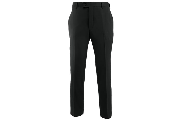 Alexandra Mens Icona Flat Front Formal Work Suit Trousers (Black) (36R)