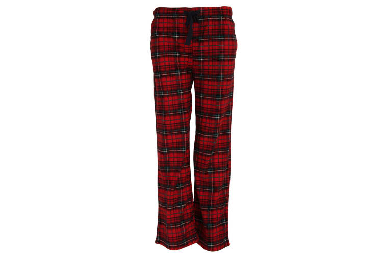 Forever Dreaming Womens/Ladies Tartan Checked Pyjama Bottoms/Lounge Pants (Red) (L)