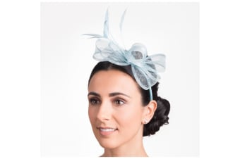 Hawkins Collection Womens/Ladies Bow And Feather Fascinator (Bluebell) (One Size)