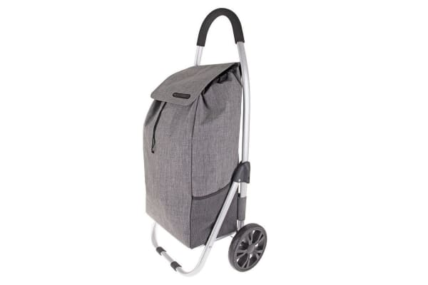 2PK Shop & Go Urban Aluminium Shopping Trolley Grocery Bag Basket Charcoal Grey
