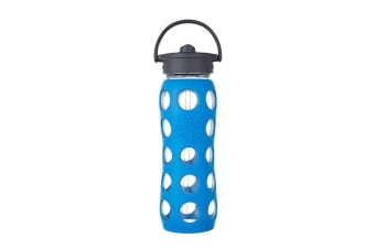 LifeFactory 650mL Straw Cap Bottle - Ocean