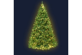 2.1M 7FT Christmas Tree 1134 LED Bulbs Lights Warm White Bonus Bag