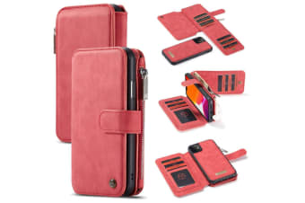 For iPhone 11 Case  Wallet PU Leather Detachable Flip Cover  Red