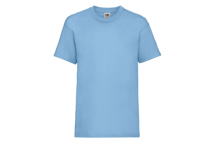 Fruit Of The Loom Childrens/Kids Unisex Valueweight Short Sleeve T-Shirt (Pack of 2) (Sky Blue) (14-15)
