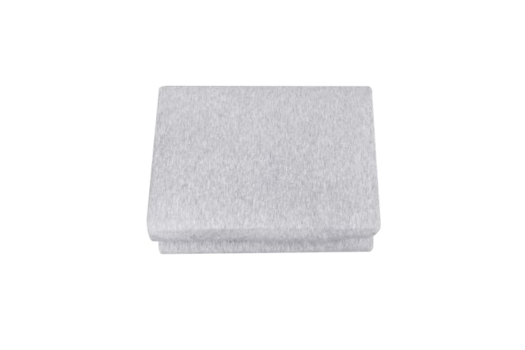 Dreamaker cotton jersey fitted sheet marle grey King Single Bed