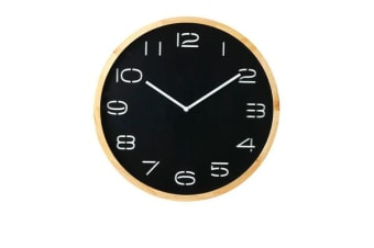 Amalfi Leni Wall Clock Pine Wood & Black