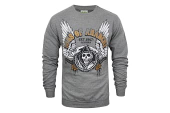 Sons Of Anarchy Mens Winged Reaper Sweater (Grey)