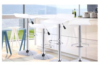 2x PU Leather Swivel Bar stool Kitchen Dining Chair Gas Lift Adjustable