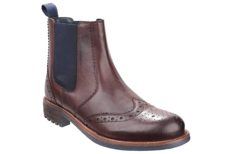 Cotswold Mens Cirencester Chelsea Brogue Shoes (Brown) (6 UK)