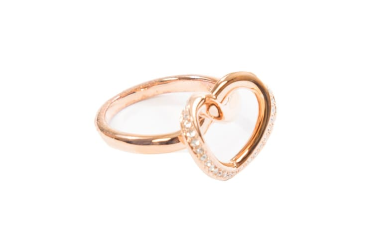 Swarovski Cupidon Rose Gold Crystal Ring (Size 7)