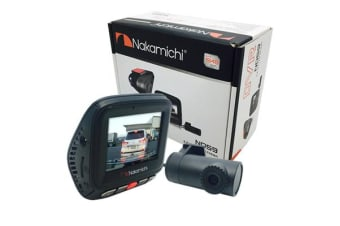 Nakamichi ND59 Dual Channel Dash Cam with Front 140 degree Horizontal extra-wide viewing angle