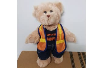 Dad Personalised Tradie Teddy Bear
