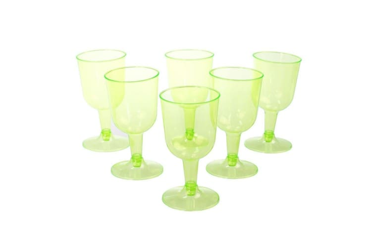 24 x 150ml Colored Disposable Plastic Wine Cups Wedding Party Glass Function