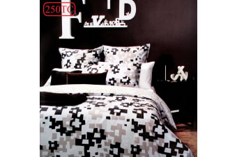 250TC Fox Thyme 5 Pce Quilt Cover Set Pack by Retro Home
