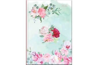 Belles Fleurs - 2020 Diary Planner A5 Padded Cover by The Gifted Stationery