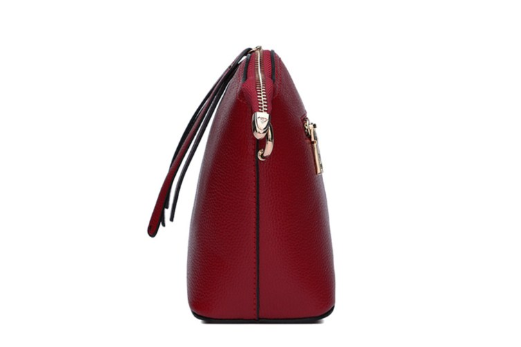 Faux Leather Vintage Women Crossbody Bag Wine Red