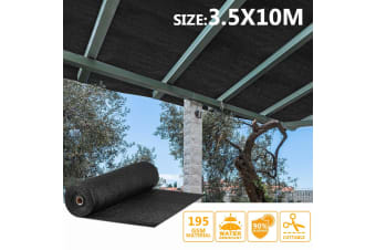 OGL Sun Shade Cloth UV Blocking - 3.5x10m Dark Green 195GSM