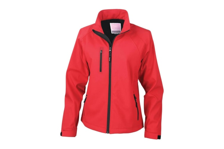 Result Ladies/Womens La Femme® 2 Layer Base Softshell Breathable Wind Resistant Jacket (Red) (M)