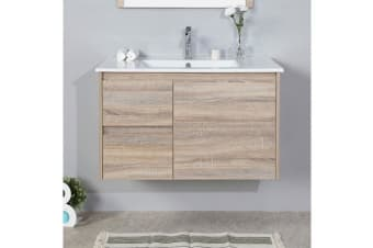 Aulic Grace Wall Hung Bathroom 900mm Vanity Ceramic Top with undermount basin CAW05-900R-CT28
