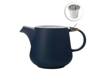 Maxwell & Williams 600ml Tint Navy Teapot w Lid & Removable Infuser Tea Pot Jug