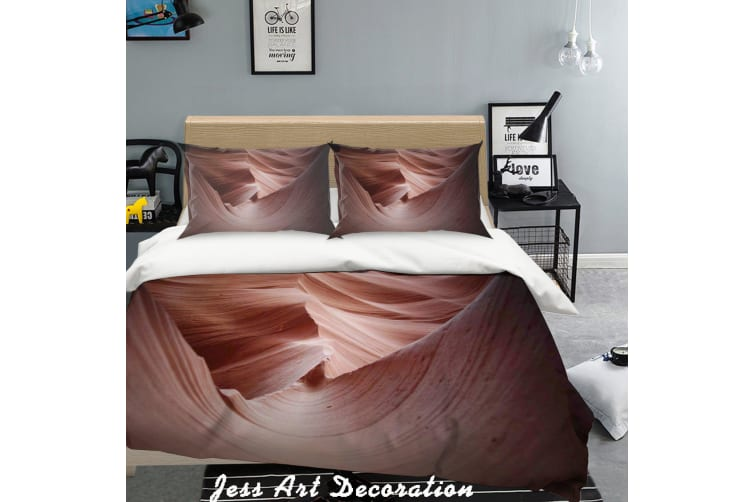 3D Red Solid Effect Quilt Cover Set Bedding Set Pillowcases 53-Double