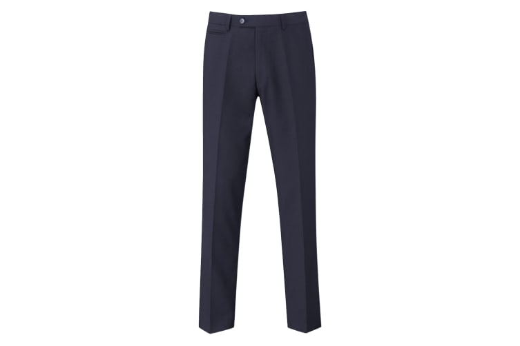 Skopes Mens Madrid Flat Fronted Formal Work/Suit Trousers (Navy) (38/S)