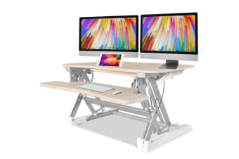 AVANTE Height Adjustable Standing Desk Riser Sit/Stand Office Computer Desktop