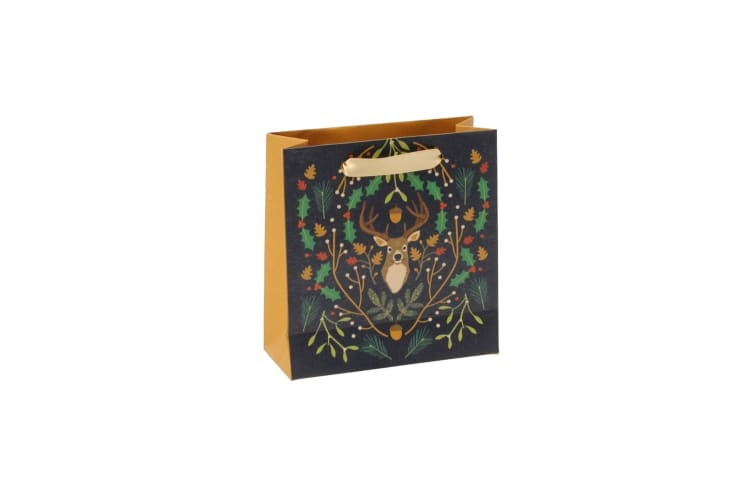 Seasons Greetings Stag Gift Bag (Multicoloured) (Large)