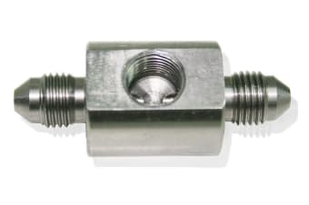 """Aeroflow Stainless -3AN Union 1/8"""" Portmale To Male With 1/8""""Npt Port"""