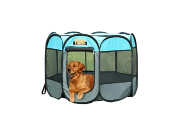 "PaWz Pet Playpen Puppy Dog Cat Soft Crate Cage Tent Kennel Exercise Portable AU  -  Navy Blue36"": 91(L)x91(W)x61(H)cm"
