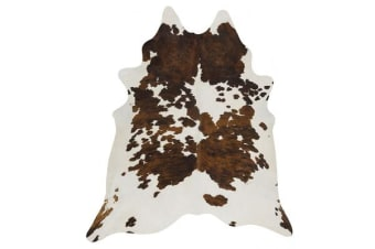 Exquisite Natural Cow Hide Black Tricolor 170x180cm