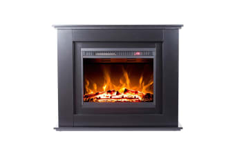 Luxo Anala 1500W Electric Fireplace Mantel & Heater - Black