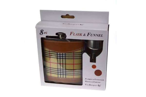 Vin Bouquet Flask And Funnel Set - Beige Check