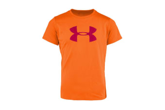 Under Armour Girls' Graphic Big Logo T-Shirt (Orange/Purple)