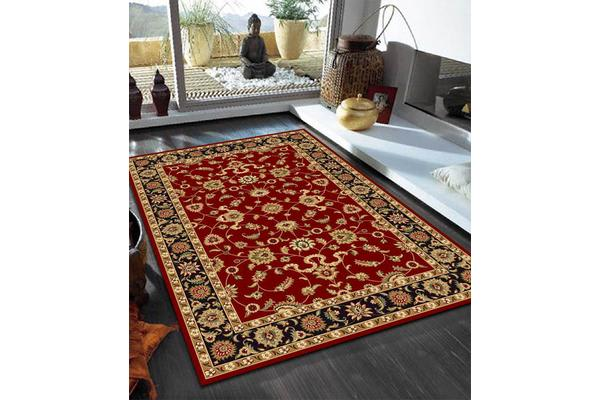 Classic Rug Red with Black Border 290x200cm