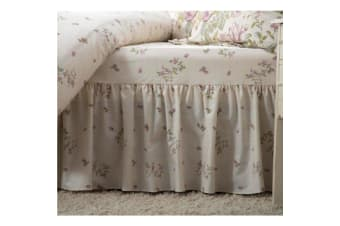 Belledorm Rose Boutique Fitted Valance (Ivory/Pink/Green)
