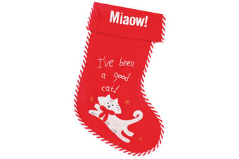 Christmas Shop Pet Cat Stocking (Red/White)