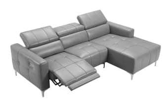 Boston Sofa with Electric Recliner (Grey)