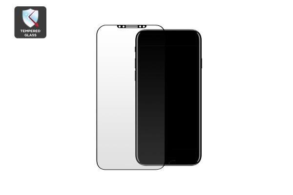Premium Tempered Glass Screen Protector for iPhone X (Black)