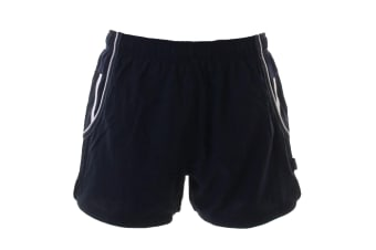 Gamegear® Cooltex® Mens Active Training Shorts / Mens Sportswear (Navy / White)
