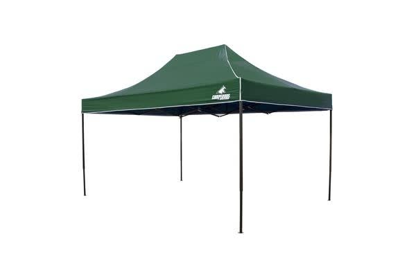 3x4.5m Gazebo Frame + Roof - GREEN