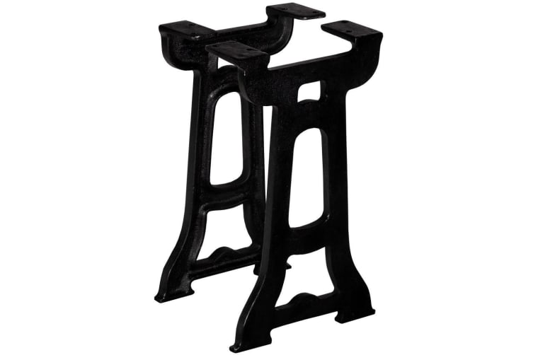 vidaXL Bench Legs 2 pcs Y-Frame Cast Iron