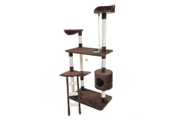 Cat Tree Scratcher FUJI 158 cm - BROWN