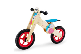 ROVO KIDS Balance Bike Wooden Ride On Toy Bicycle Push Training Outdoor Toddler