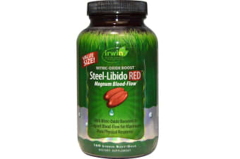 Irwin Naturals Steel-Libido Red Magnum Blood-Flow - 150 Liquid Soft-Gels